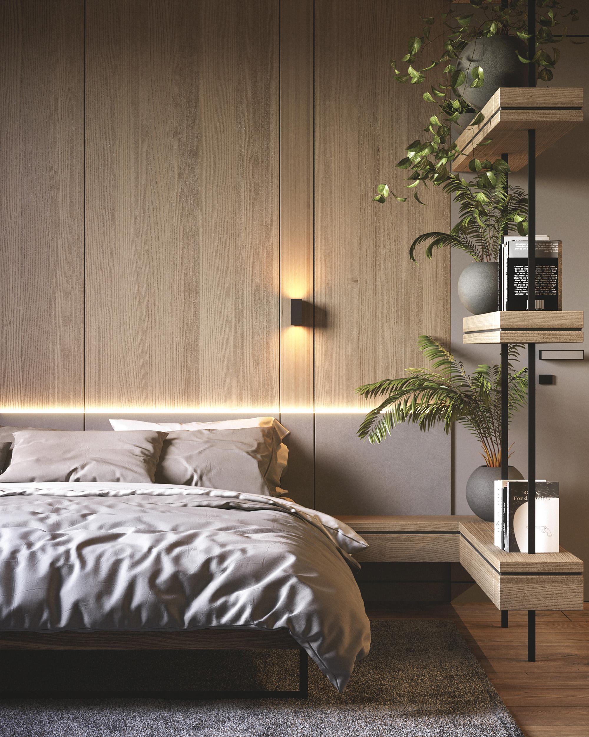 сучасний дизайн інтер'єру спальні в ЖК Радужний