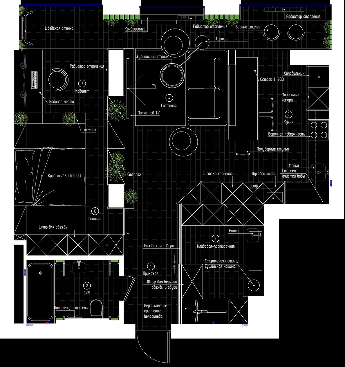 Планування квартири в ЖК Меридіан